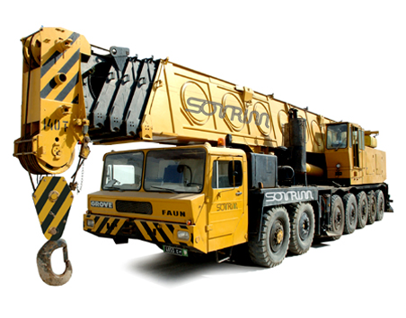 location grue automotrice 140T - Tunisie